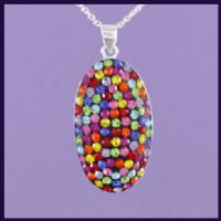 Multi-coloured Swarovski Crystal Oval